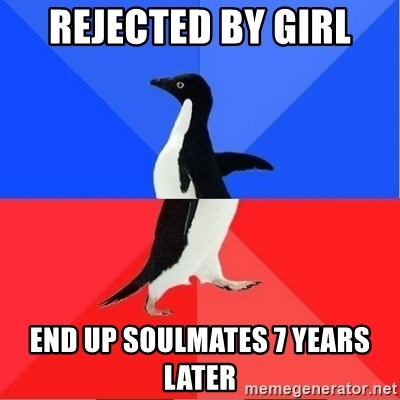 Socially Awkward to Awesome Penguin - rejected by girl end up soulmates 7 years later