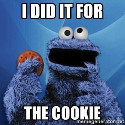 Cookie Monster Desktop - I did it for the cookie