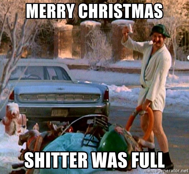 Cousin Eddie - Merry christmas shitter was full