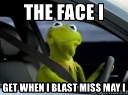 kermit the frog in car - The Face i  get when I blast Miss may i