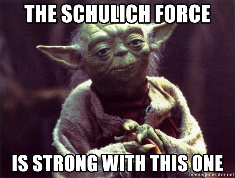Yoda - The schulich force is strong with this one