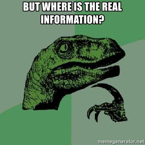 Philosoraptor - But where is the REAL information?