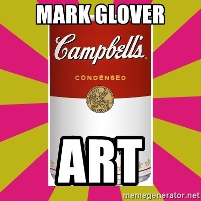 College Campbells Soup Can - Mark Glover Art
