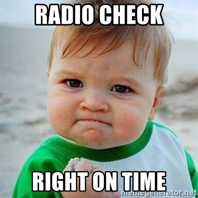 Victory Baby - Radio check Right on time