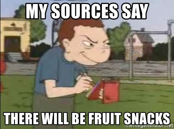 Recess Randall - My sources say There will be fruit snacks