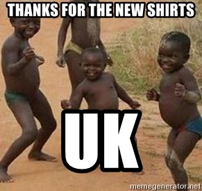 african children dancing - Thanks for the new shirts UK