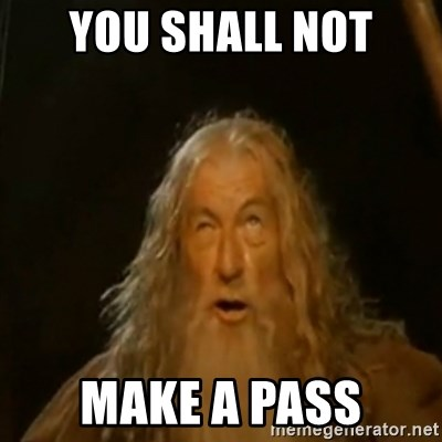 Gandalf You Shall Not Pass - YOU SHALL NOT MAKE A PASS