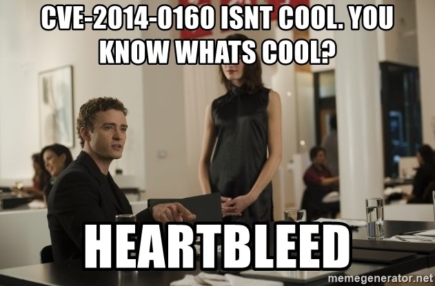 sean parker - CVE-2014-0160 isnt cool. you know whats cool? heartbleed