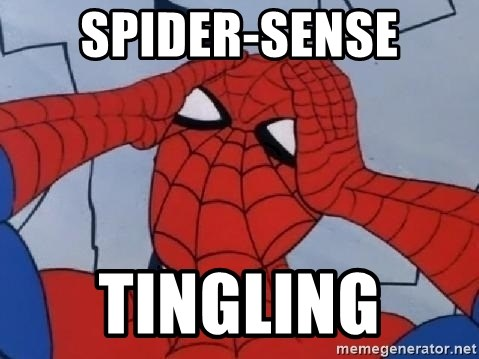 Hungover Spiderman - Spider-sense Tingling