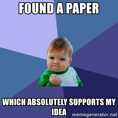 Success Kid - found a paper which absolutely supports my idea