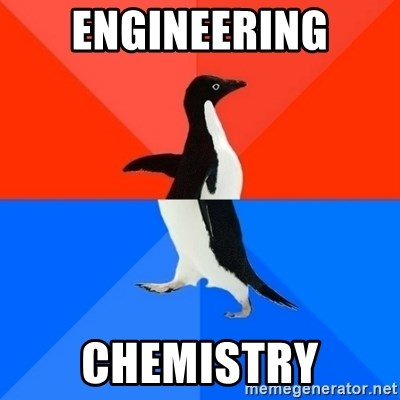 Socially Awesome Awkward Penguin - Engineering chemistry
