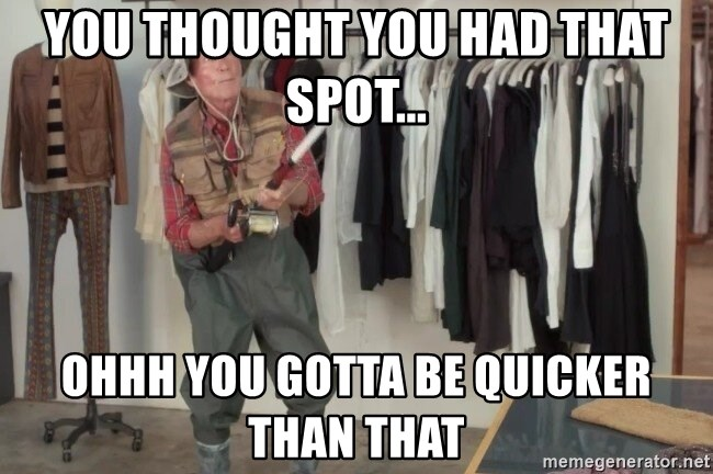 State Farm Fisherman - You thought You had that spot... ohhh you gotta be quicker than that