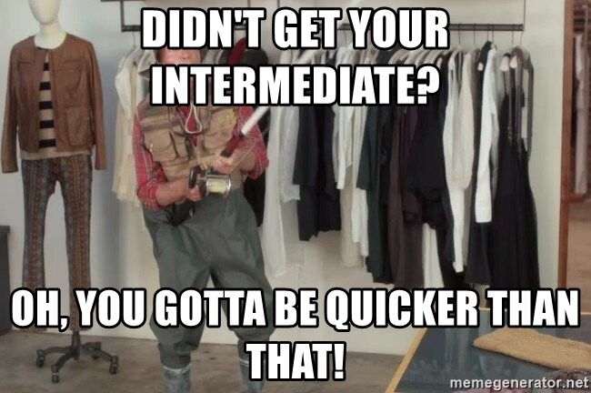 State Farm Fisherman - Didn't get your intermediate? Oh, you gotta be quicker than that!