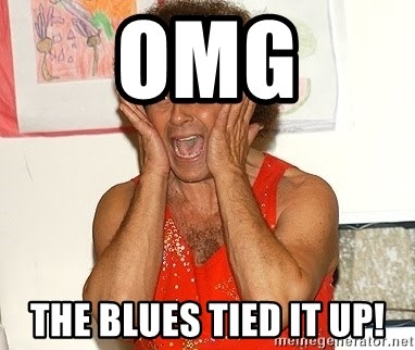 Richard Simmons Screaming - Omg The blues tied it up!