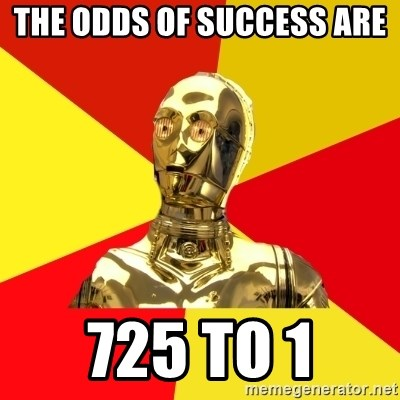 The odds of success are 725 to 1 - C3PO  Meme Generator