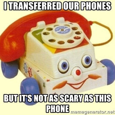 Sinister Phone - I TRANSFERRED our phones but it's not as scary as this phone