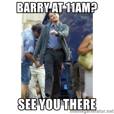Leonardo DiCaprio Walking - BARRY AT 11AM? SEE YOU THERE