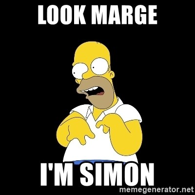 look-marge - Look marge I'm Simon