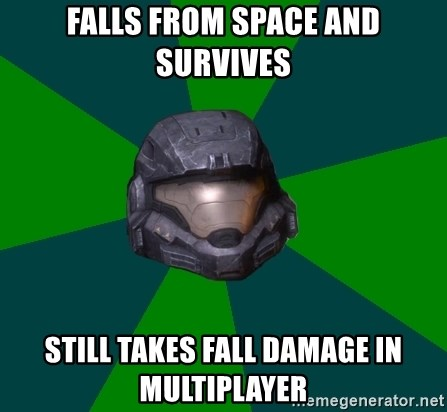 Halo Reach - Falls from space and survives Still takes fall damage in multiplayer