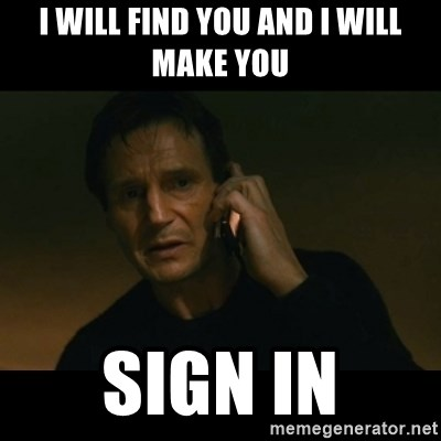 liam neeson taken - I will find you and i will make you sign in