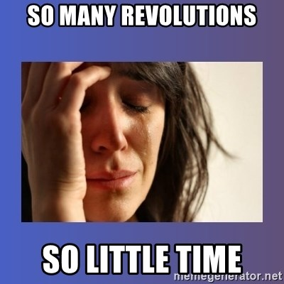 woman crying - So many revolutions so little time