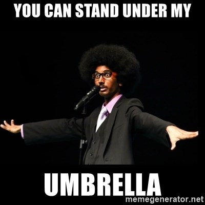 AFRO Knows - you can stand under my umbrella
