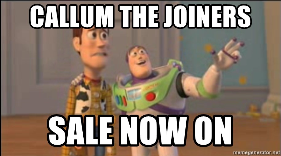 X, X Everywhere  - callum the joiners sale now on