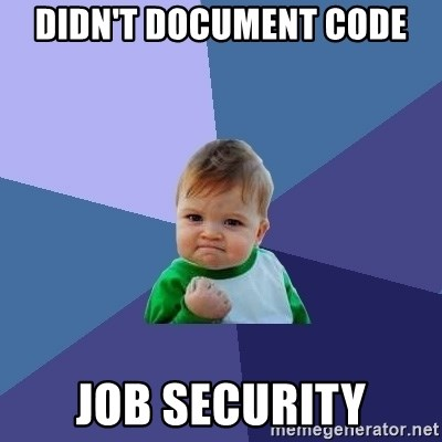 Success Kid - Didn't document code job security