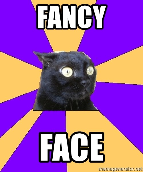 Anxiety Cat - fancy face