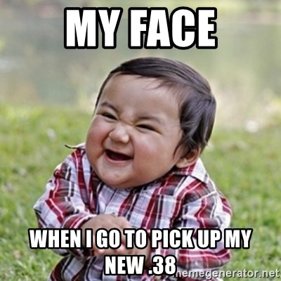 evil toddler kid2 - My FAce when i go to pick up my new .38