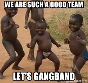 african children dancing - we are such a good team let's gangband