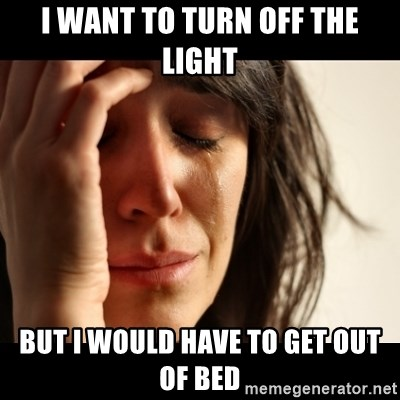 crying girl sad - i want to turn off the light but i would have to get out of bed