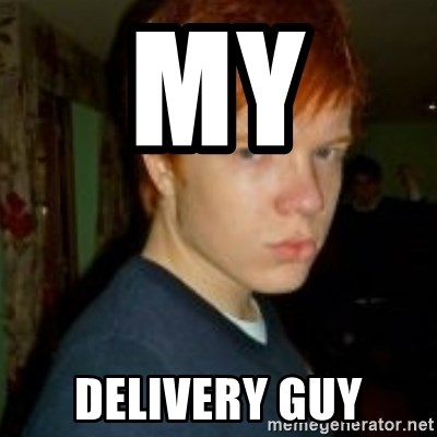 Flame_haired_Poser - My  Delivery guy