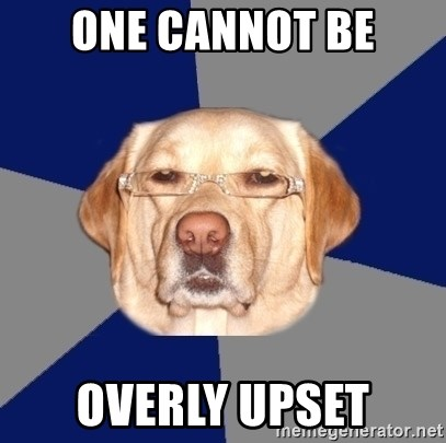 Racist Dawg - one cannot be overly upset