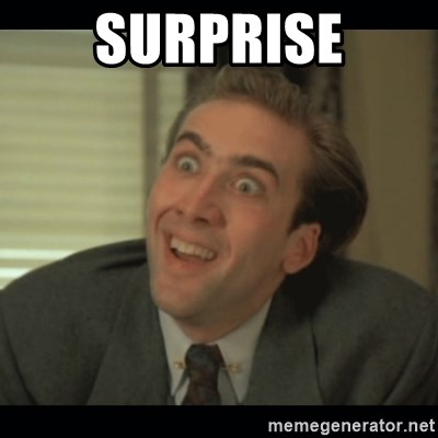 Nick Cage - surprise