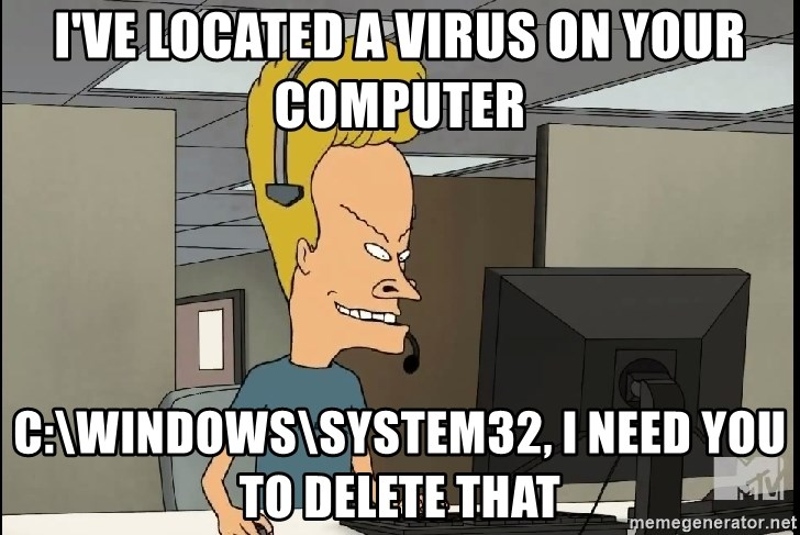 I've located a virus on your computer C:\windows\system32, i need