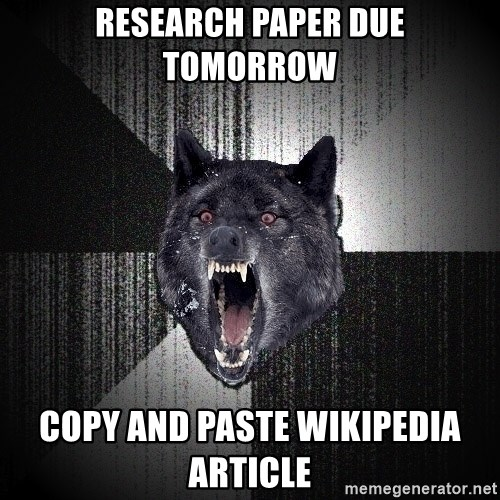 Insanity Wolf - Research paper due tomorrow copy and paste wikipedia article