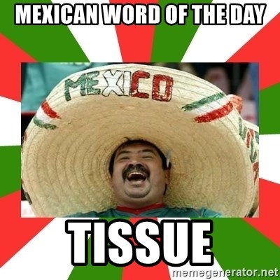 Sombrero Mexican - Mexican word of the day Tissue