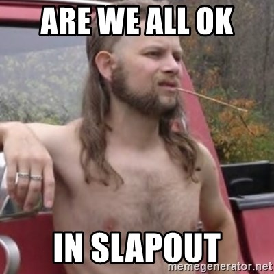 Stereotypical Redneck - Are we all ok  IN SLAPOUT