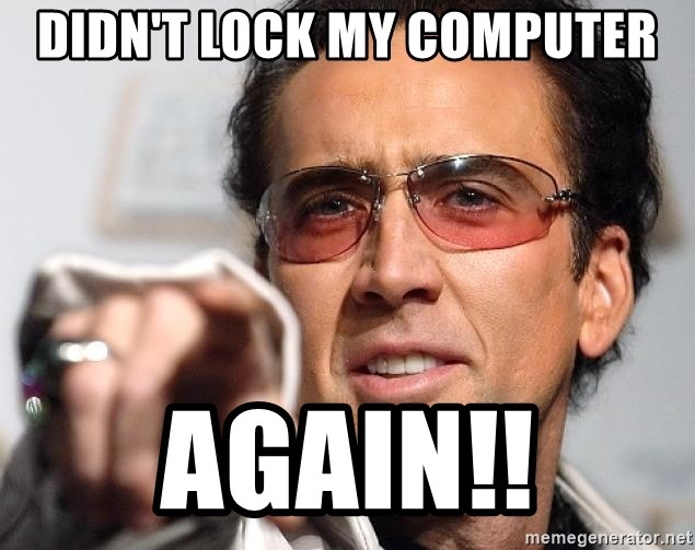 Nicolas Cage Pointing - didn't lock my computer again!!