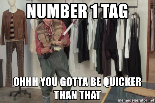 State Farm Fisherman - number 1 tag ohhh you gotta be quicker than that