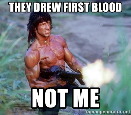 Image result for they drew first blood