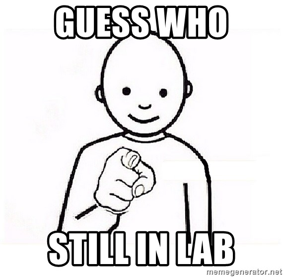 GUESS WHO YOU - Guess who  still in lab