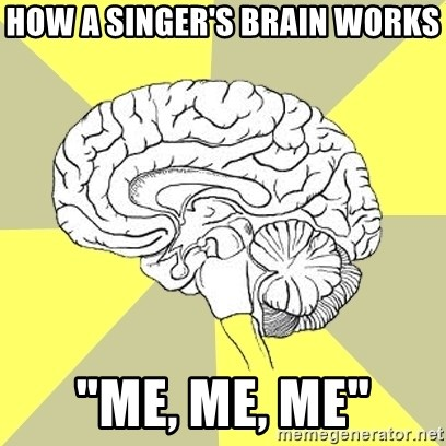 "Traitor Brain - hOW A sINGER'S BRAIN WORKS ""me, me, me"""