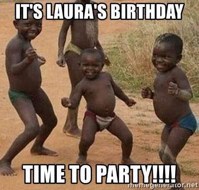 Happy african kids - It's Laura's birthday Time to party!!!!