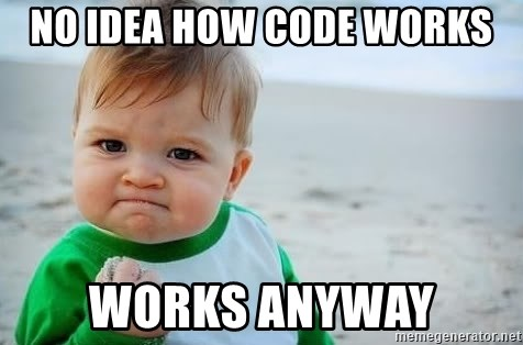 fist pump baby - No idea how code works Works anyway