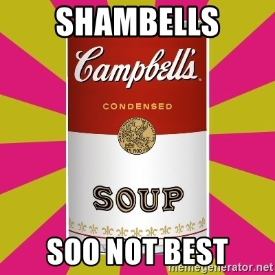 College Campbells Soup Can - shambells soo not best