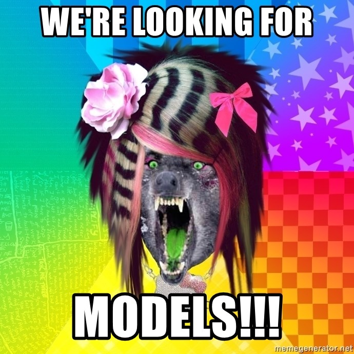 Insanity Scene Wolf - we're looking for models!!!