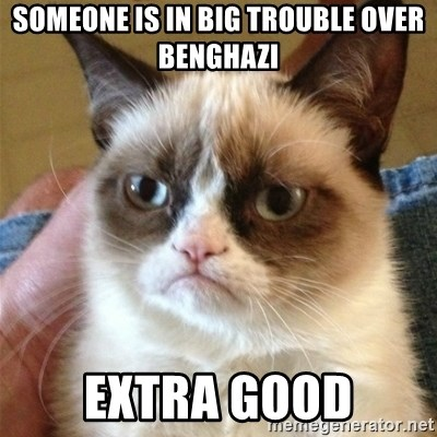 Grumpy Cat  - Someone is in big trouble over Benghazi Extra Good