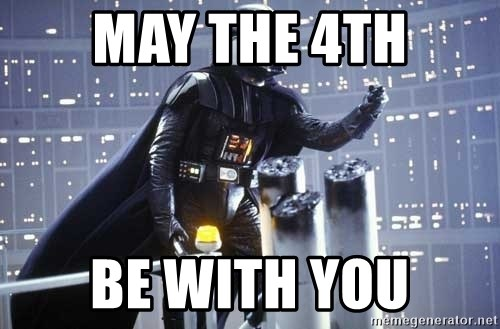 Darth Vader Shaking Fist - May the 4th be with you